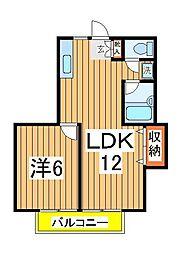 ピソ松ヶ丘[102号室]の間取り
