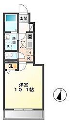 木更津市長須賀593番1新築アパート[107号室]の間取り