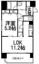 北海道札幌市西区山の手四条1丁目の賃貸マンションの間取り