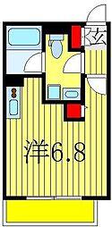 千葉県船橋市北本町1丁目の賃貸アパートの間取り