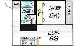 ZEUS菅原[1階]の間取り