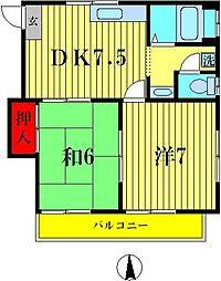 アルファコーポ[2階]の間取り