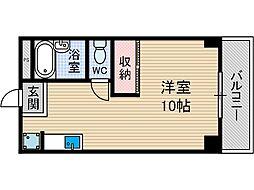山崎第6マンション[4階]の間取り