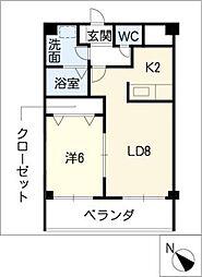 パルテール覚王山[3階]の間取り