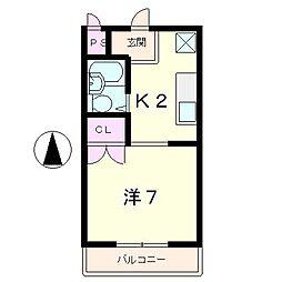 ルミナスコマイ[2階]の間取り