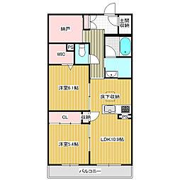 仮称)学園の森三丁目新築 3階2LDKの間取り