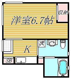 東京都葛飾区青戸6丁目の賃貸アパートの間取り