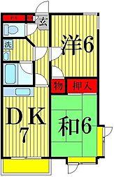 ウッディハウス21[3階]の間取り