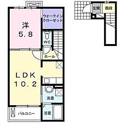 メゾンフレーズIII[2階]の間取り