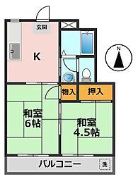 東京都江戸川区北小岩2丁目の賃貸マンションの間取り