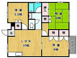 ラガーハイツIIC棟[1階]の間取り