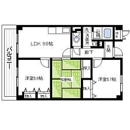 セーヌ東岸和田[2階]の間取り