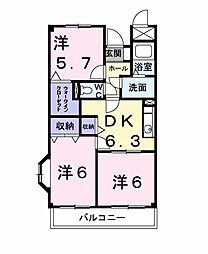 アビタシオン国分寺台[1階]の間取り