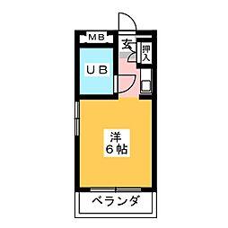 ドール青峰通[2階]の間取り
