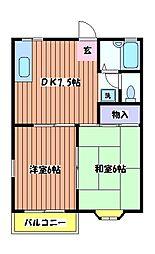 プルメリアガーデンC棟[2階]の間取り