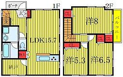 JR京浜東北・根岸線 王子駅 徒歩12分の賃貸アパート 1階3SLDKの間取り