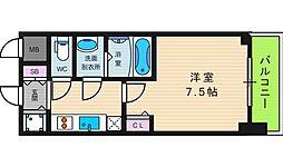 リッツ難波南Ⅱ[10階]の間取り