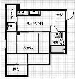 高野ビル[2階]の間取り