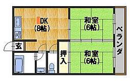 柴田マンション[303号室]の間取り