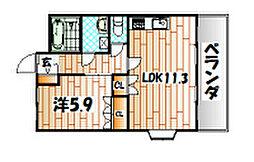 グランドソレーユ[2階]の間取り