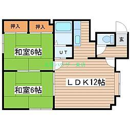 北海道札幌市東区北三十条東5丁目の賃貸アパートの間取り