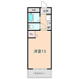 竹永ハイツ[306号室]の間取り