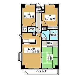 沖野マンションI[1階]の間取り