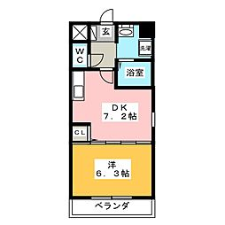octava dios[3階]の間取り