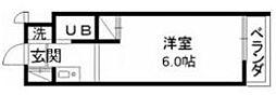 神奈川県大和市大和南2丁目の賃貸マンションの間取り
