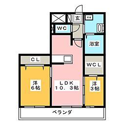 カイヤ[3階]の間取り