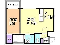 Parente S22(パレンテS22) 4階1LDKの間取り