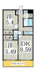 フォレストヴィラ船戸[2階]の間取り