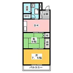 アショカコーポ[2階]の間取り