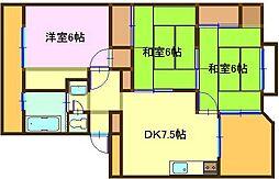 飯山マンション[403号室]の間取り