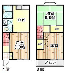 [テラスハウス] 神奈川県海老名市大谷北4丁目 の賃貸【/】の間取り