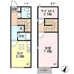 [タウンハウス] 広島県東広島市三永2丁目 の賃貸【/】の間取り