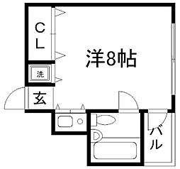 兵庫県神戸市灘区水道筋4丁目の賃貸マンションの間取り