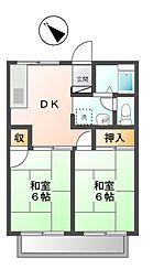 パレ・ドール[2階]の間取り