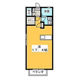 シャーメゾン佐久羅[1階]の間取り