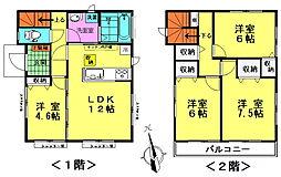 [一戸建] 東京都八王子市川口町 の賃貸【/】の間取り