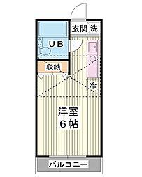 SERAセラ新浦安 1階ワンルームの間取り