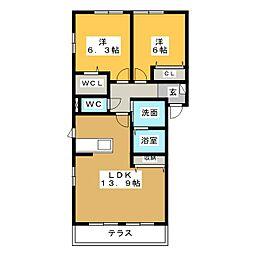 Hebel Residence B[1階]の間取り