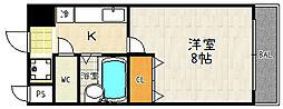 エムアイキャッスル[305号室]の間取り