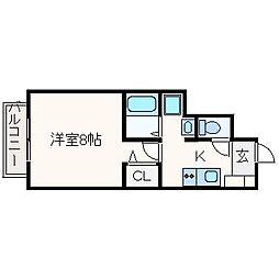 ドルフハイム清福寺[107号室]の間取り