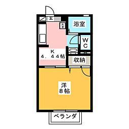 ブルーメ[2階]の間取り