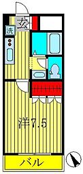 ピアリープレイス[2階]の間取り