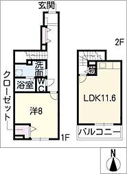 サンアベニューI[1階]の間取り