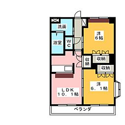 プリオール[3階]の間取り