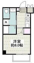 アールエス湘南平塚 3階1Kの間取り