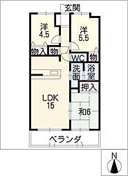 ベルシェール上飯田[2階]の間取り